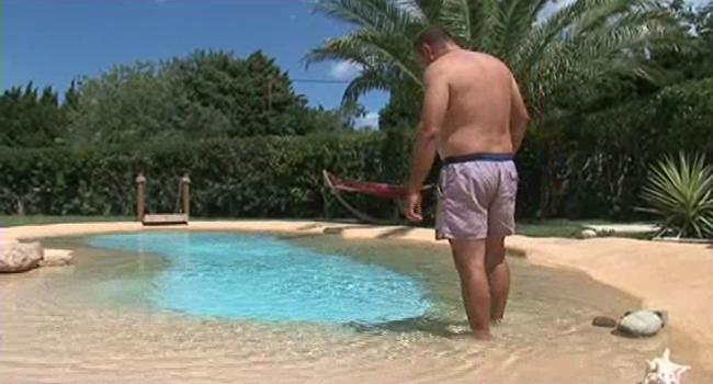 Cr ation d 39 une piscine sur le mod le d 39 une plage tropicale - Belle piscine de particulier ...